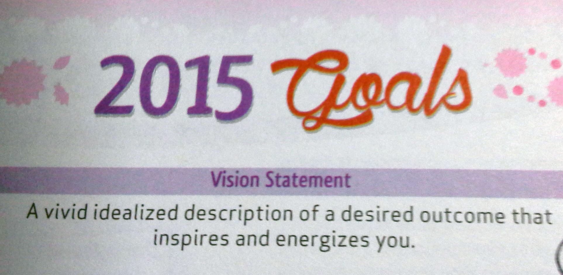Goal Setting for 2015