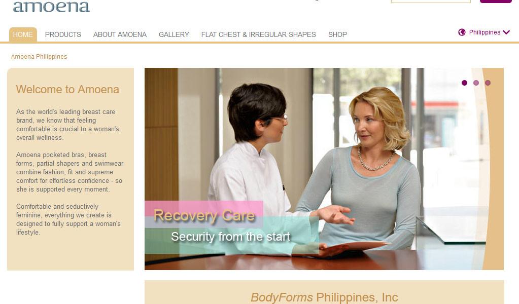 Amoena Philippines Website