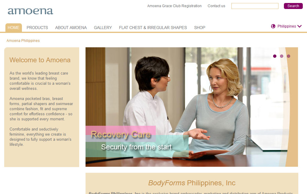 Amoena Philippines Website