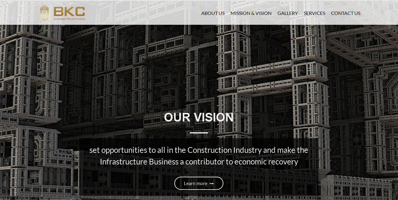 BKCConstruct.com – Web Development Project